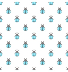 Fly pattern cartoon style vector