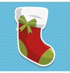 Christmas sock decoration icon vector