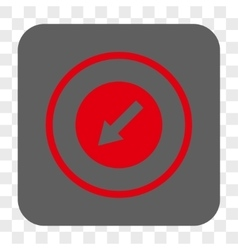Down-left rounded arrow rounded square button vector