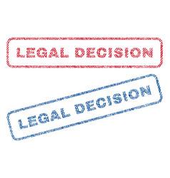 Legal decision textile stamps vector