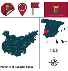 province of badajoz spain vector image