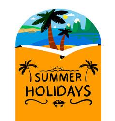 summer beach background summer holidays vector image