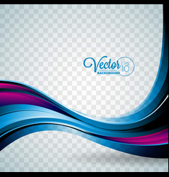 Abstract wave design on transparent background vector
