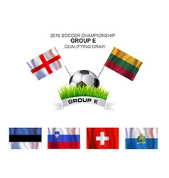 2016 soccer championship group e qualifying draw vector