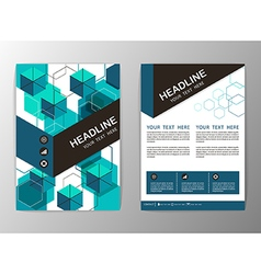 Abstract hexagon geometric brochure template flyer vector