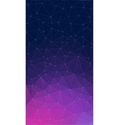 Purple background with triangles vector