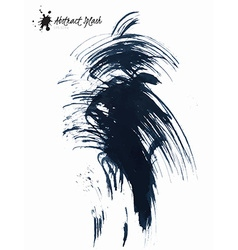 Abstract black splashes vector