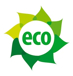 Eco logo in the shape of a flower vector