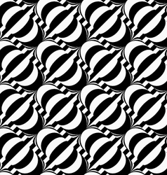 Black and white diagonal bulbs on stripes vector