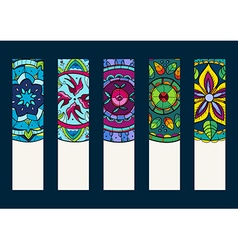 Set 1 of banners with hand drawn mandalas vector image
