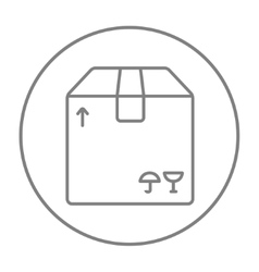 Carton package box line icon vector