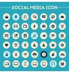 Big social media icon set vector