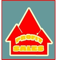 Sales grow up sticker vector