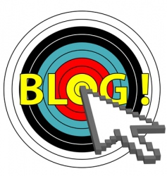blog on target click vector image vector image