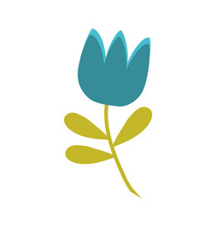 Blue tulip flower spring vector