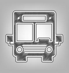 Bus sign pencil sketch vector