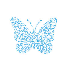 Butterfly in blue design vector