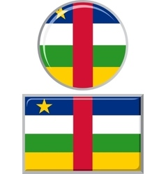 Central African Republic round and square icon vector image vector image