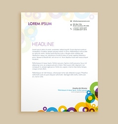 Creative circle shapes letterhead design vector