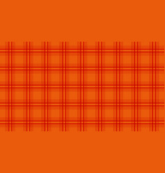 Fabric in orange color seamless tartan pattern vector