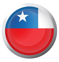 isolated flag of chile vector image vector image