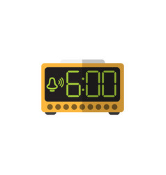 Isolated time flat icon electric alarm vector