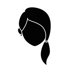 isolated young woman face vector image vector image