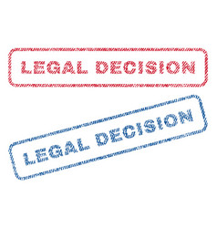 Legal decision textile stamps vector