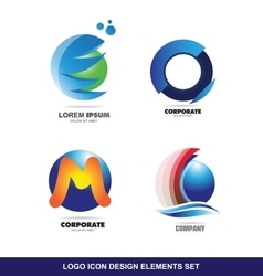 Logo icon design elements set vector image vector image