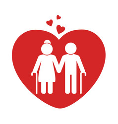Love couple silhouette icon vector