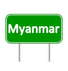Myanmar road sign vector