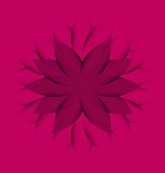 Pink purple wheel flower vector