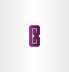 purple letter e logo sign design vector image vector image