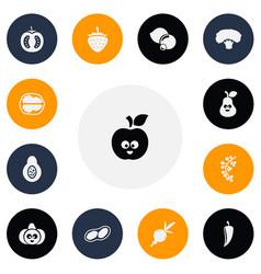 Set of 13 editable cookware icons includes vector