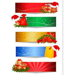 set of winter christmas backgrounds vector image