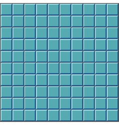 stylized wall with blue tiles pattern vector image