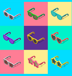 sunglasses set isometric vector image vector image