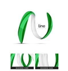 Swirl wavy ribbon abstract concept vector image