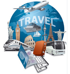Traveling and cruising vector