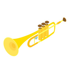 trumpet icon isometric style vector image vector image