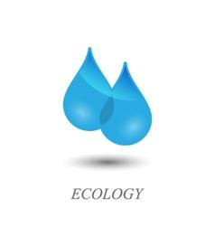 Water drops logo vector image