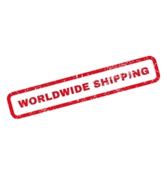 Worldwide shipping rubber stamp vector