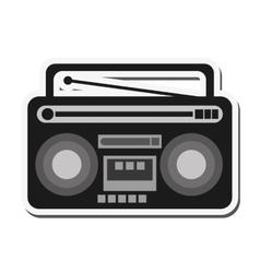 classic boombox icon vector image