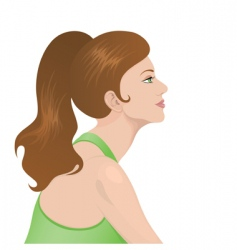Portrait of a beautiful woman vector