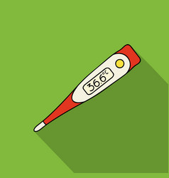 Electrical thermometer icon in flate style vector