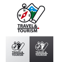 logo for tourism vector image
