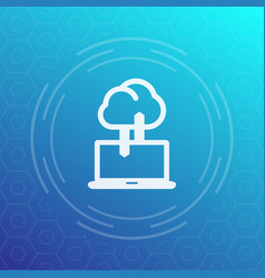 Sync with cloud icon data upload synchronization vector