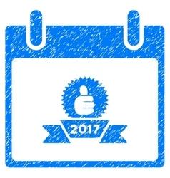2017 Award Ribbon Calendar Day Grainy Texture Icon vector image vector image