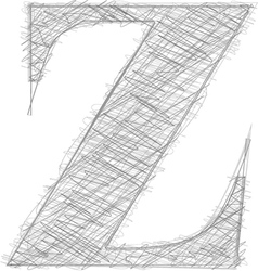 Freehand typography letter z vector