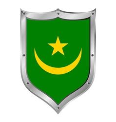 Mauritania flag button vector